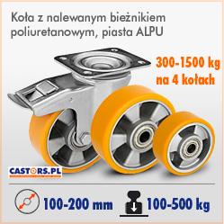 Kółka i zestawy kołowe jezdne z bieżnikiem poliuretanowym