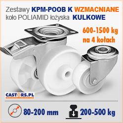 Zestawy z kołem poliamidowym WZMACNIANE KPM POB K