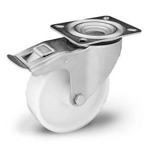 Zestaw kołowy nierdzewny skrętny z hamulcem  KPX