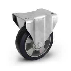 Zestaw kołowy stały TPM-ALGE 200K z kołem gumowym piasta aluminium. Nośność 400 kg / 200mm/ kulkowe