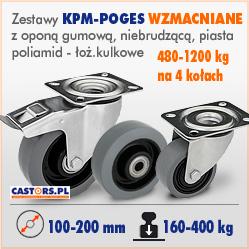 Zestawy kołowe przemysłowe KPM-POGES wzmacniane