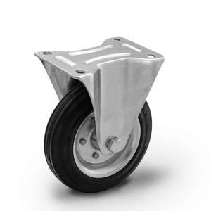 Zestaw kołowy stały CTPW-SG 200W  koło gumowe stalowa piasta  Nośność 230 kg / 200mm / wałeczkowe