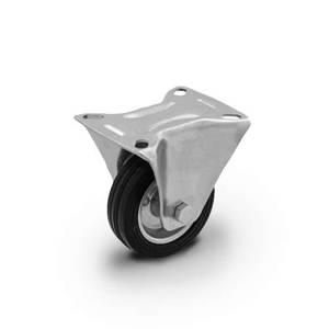Zestaw kołowy stały CTPW-SG 80W  koło metalowo-gumowe stalowa piasta  Nośność 50 kg / 80mm / wałeczkowe